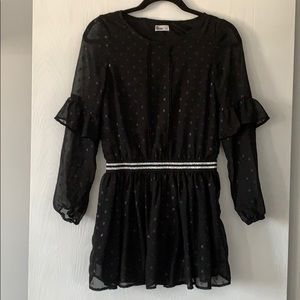 Girls mesh arms dress never used